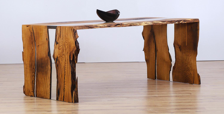 Rusztikus tölgyfa asztal
