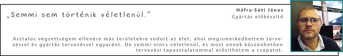 Háfra-Sóti János - Gyártás előkészítő