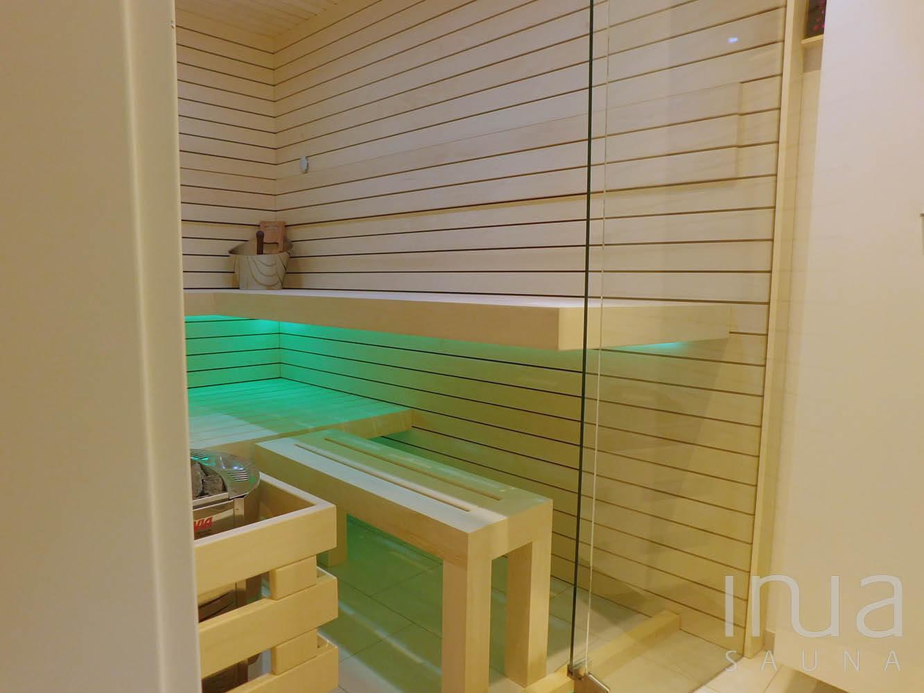 Inua panelrendszerrel gyártott beltéri finn szauna. | Inua Szauna Kft.