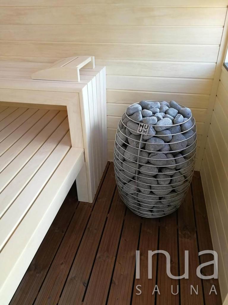 Egyedi skandináv dizájn alapján készült kültéri finn szauna.